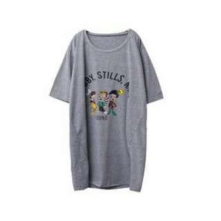 皮諾丘 小木偶 圓領長板T恤上衣