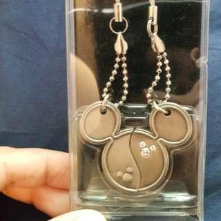 日本東京迪士尼 米奇對鍊 情人節禮物 手機吊飾對鍊