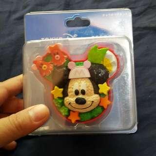 日本東京迪士尼 米奇mickey 便當盒造型 磁鐵