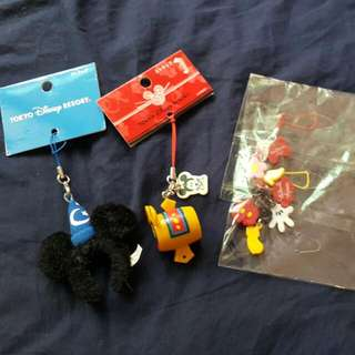 日本東京迪士尼 可愛米奇米妮 新年限定版 手機吊飾 手機鍊