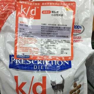 Hill's希爾思貓k/d心血管、腎臟病專用4磅