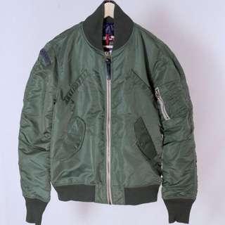 絕版Superdry Flight jacket飛行夾克 軍綠 M號