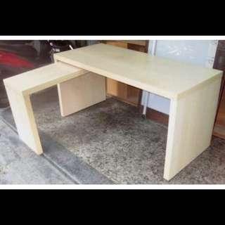 ✨保留中「二手」IKEA-L型原木色長桌