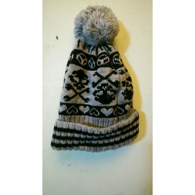 骷髏毛球毛帽