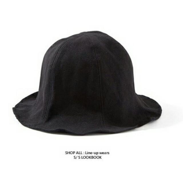 復古古著素色漁夫帽