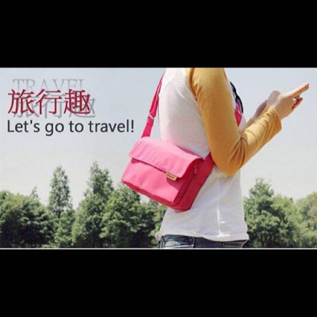 (預購)韓版多功能多口袋休閒包