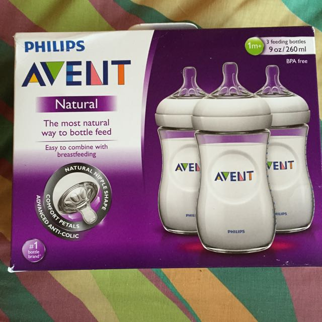 Avent Natural 9oz, 3pcs