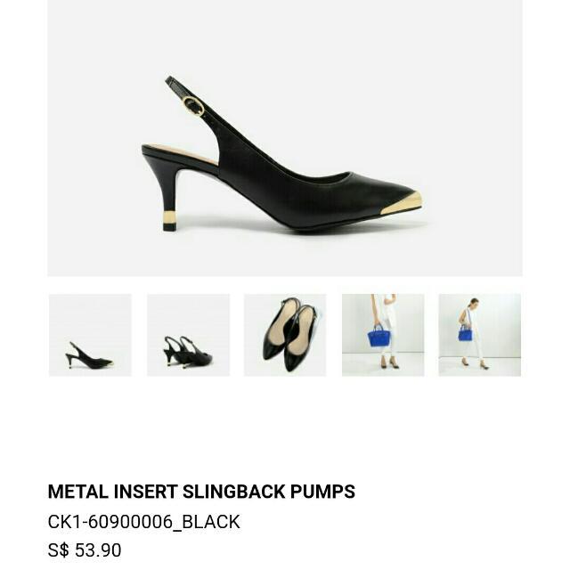 Brand NEW! Charles & Keith Black Heels