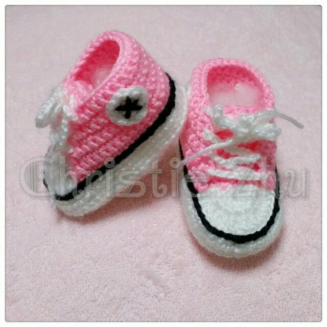 Crochet Baby Converse Babies Kids On Carousell