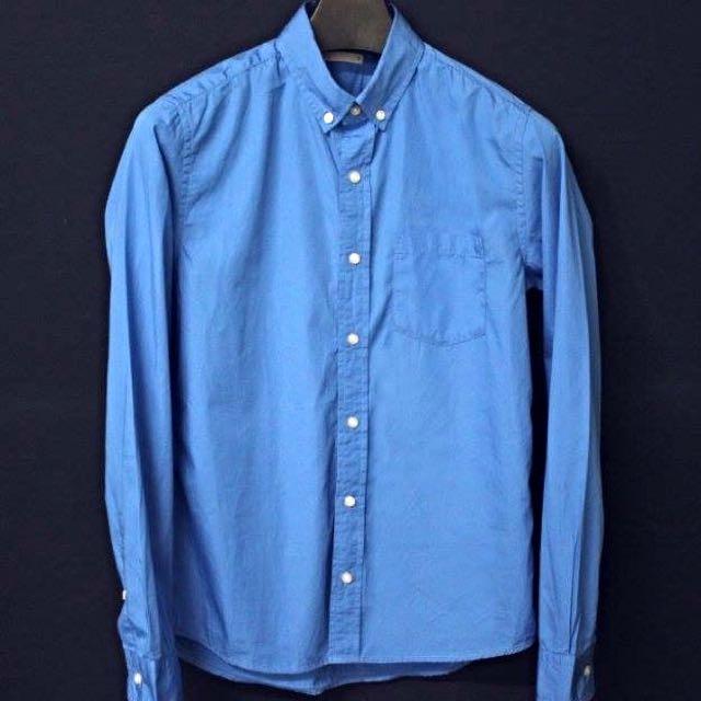 GU 襯衫 寶藍 Uniqlo Zara H&M