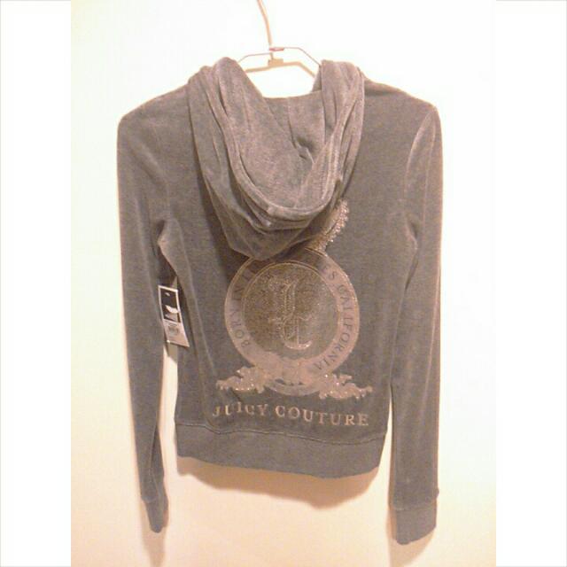 JUICY COUTURE 經典灰色絨布外套(XS號)