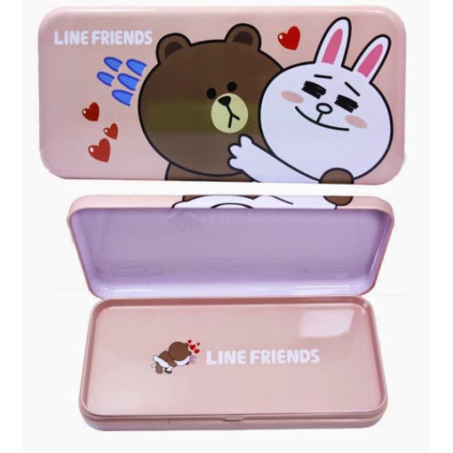 LINE FRIENDS大雙層鐵筆盒