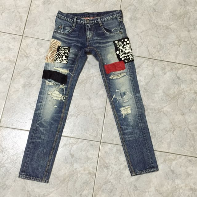日本RNA 拼貼時髦破褲