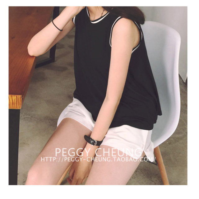 Striped Collar Basic (Black)