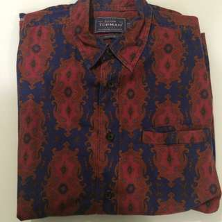 Topman Long Sleeve Shirt