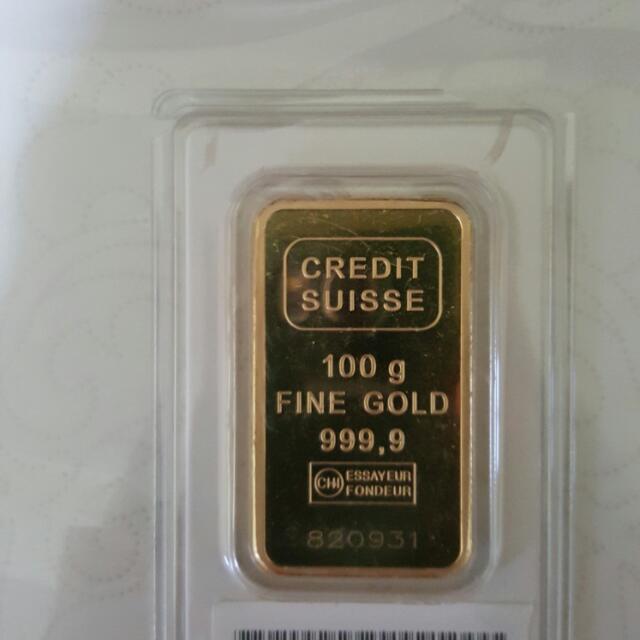 100g Credit Suisse 999.9 Fine Gold Bar