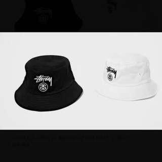 Stussy 經典基本款 漁夫帽 黑/白