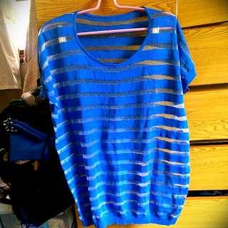 海洋藍條紋襯衣