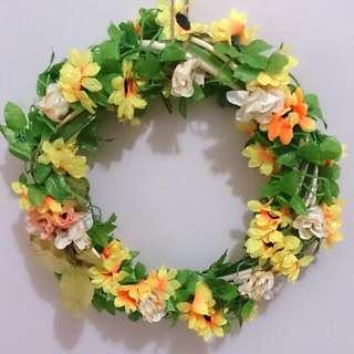 Handmade Flower Decor Wreath