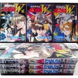 Gundam Wing manga volumes 1-3 (complete) by Tokita Kouichi