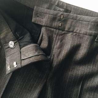UK 10 Esprit Pinstriped Work Pants