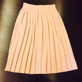 Nitt 粉色百褶裙