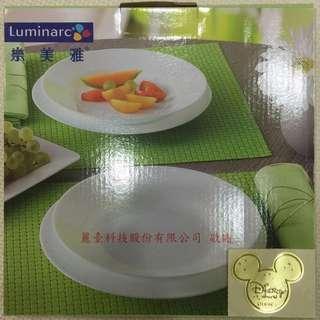 樂美雅Luminarc 24cm(9寸)白色盤子