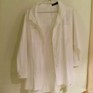 Pazzo寬鬆白襯衫