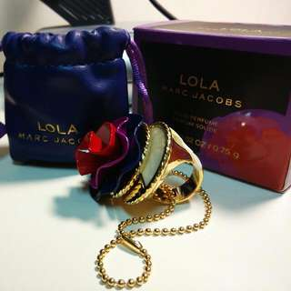 (全新)MARC JACOBS LOLA Solid Perfume Dome Ring 蘿拉固體香膏圓頂 指環