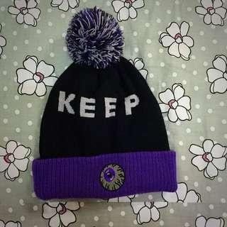 黑紫嘻哈毛帽