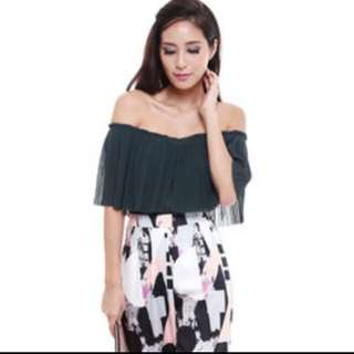 Pleated Multi-way Top