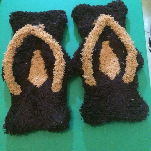(全新)可愛毛茸熊拖鞋