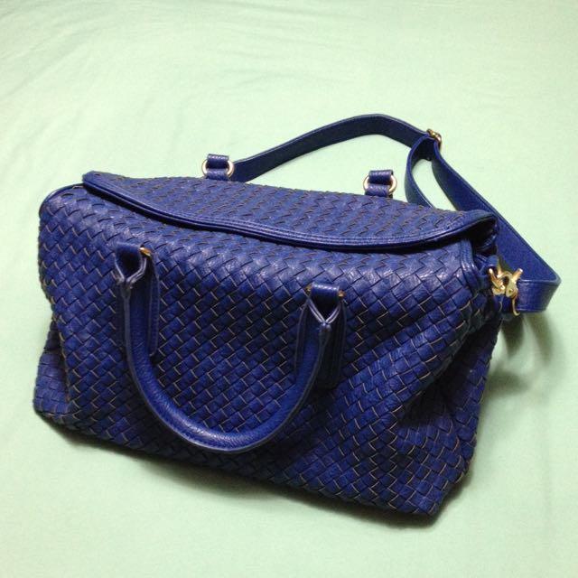 藍色編織包