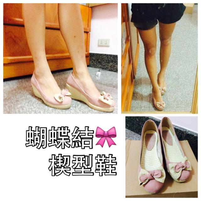 蝴蝶結🎀楔型鞋
