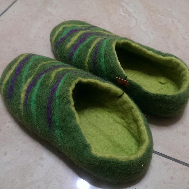 日本帶回 羊毛氈室內鞋