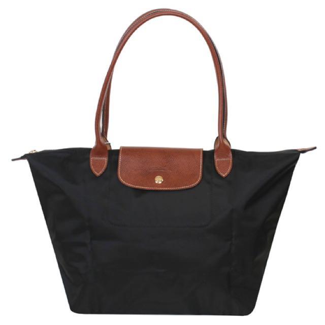 (保留中)正品 Longchamp 黑色長把M 全新