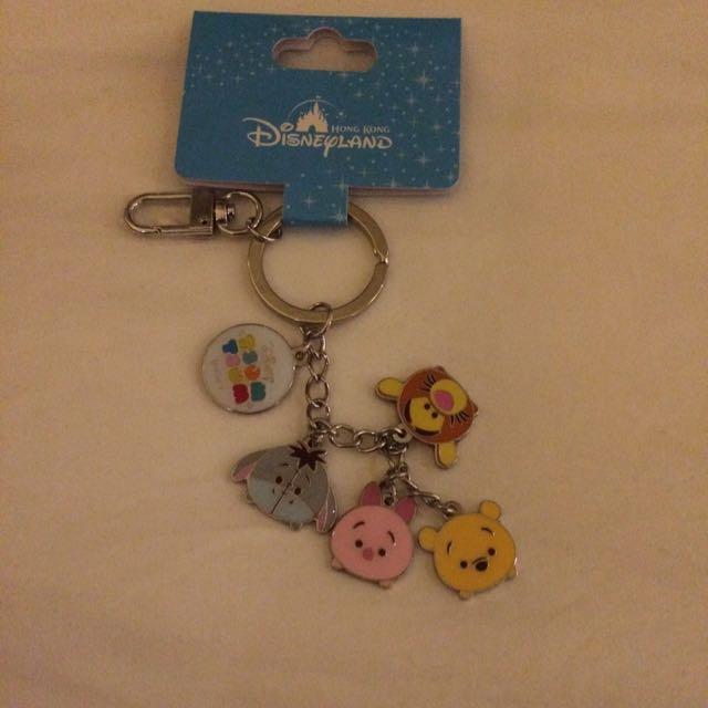 香港迪士尼 Tsum Tsum 小熊維尼家族 吊飾 鑰匙圈 送2個紙膠帶分裝各50cm
