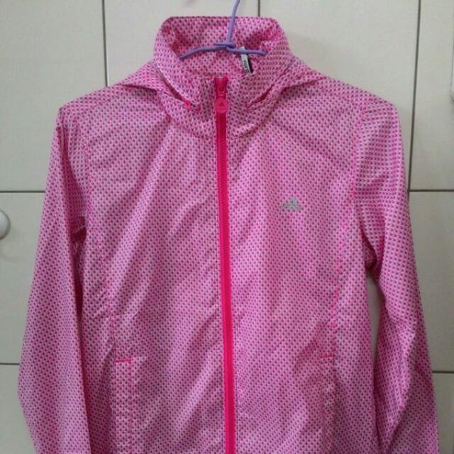 (降價)adidas 風衣 防風 防潑水 外套 女款 9成新 size:L (Nike Kappa Puma UA Asics Mizuno Uniplo 參考)