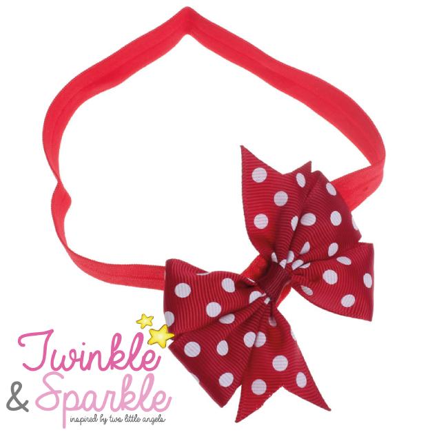Baby Elastic Hairband Polkadot Bowknot