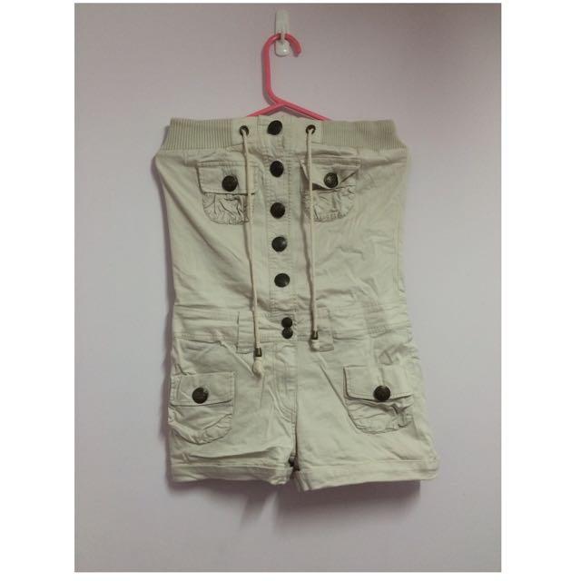 BNN7平口連身短褲(米白色尺寸M)