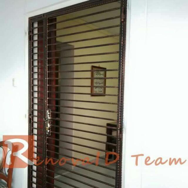 Cat friendly wrought iron gate at factory price pet for Iron gate motor condos for sale