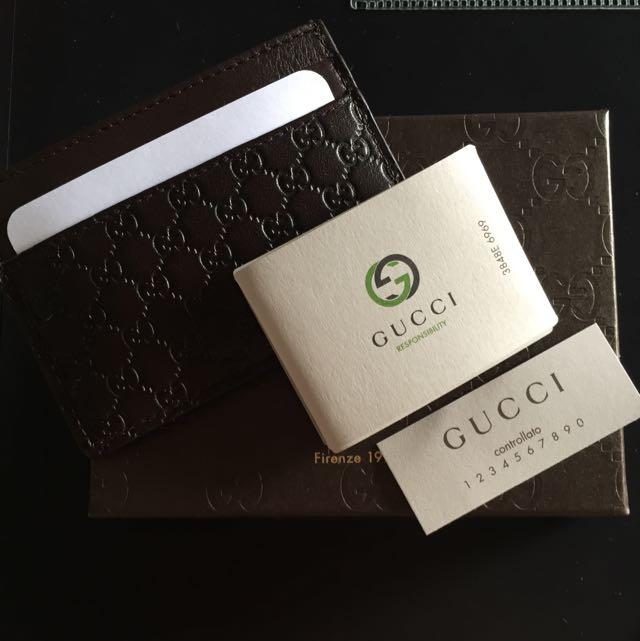 0329e6db8ec GUCCI Micro Guccissima Card Case   Card Holder