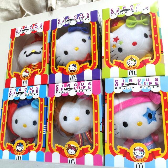 【保留】麥當勞馬戲團Kitty6隻含運