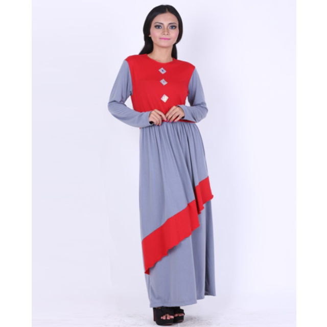 Model Baju Dress Wanita Murah Korea Muslim Long Dress Batik Terbaru
