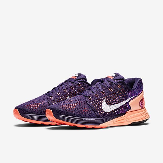 competitive price bf404 46da3 Nike Lunarglide 7 (Women) - Grand Purple/Sunset Glow/Hot Lava/White