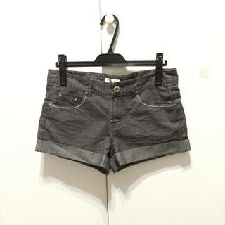 專櫃iimk 黑色單寧反摺短褲