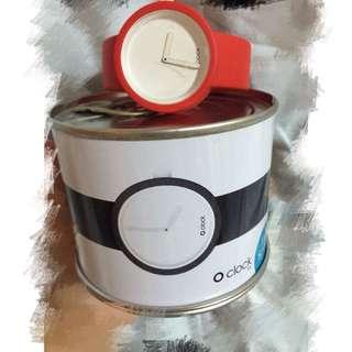 義大利時尚手錶品牌O'CLOCK經典款-紅色