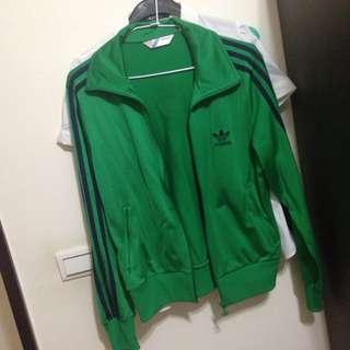 Adidas綠色運動外套