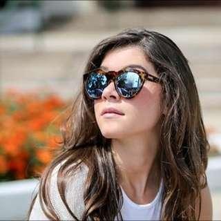 全新 澳洲 Le Specs 琥珀藍反光太陽眼鏡