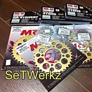 RK-M Gold Chain And MCS Sprocket